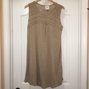 Hayden Sleeveless Brown Beige Tunic Dress Size XL